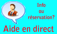 aide en direct live help chat info ou réservation